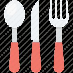 cutlery, fork, knife, spoon, utensils icon
