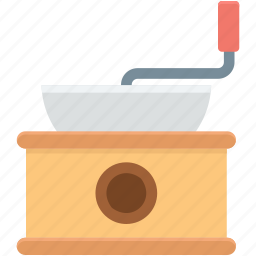 coffee grinder, coffee maker, coffee mill, kitchen accessory, manual grinder icon