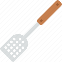 cooking spoon, kitchen turner, kitchen utensils, slotted turner, spatula icon