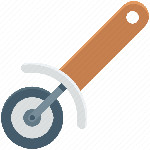 kitchen utensil, pasta cutter, pizza cutter, pizza knife, pizza slicer icon
