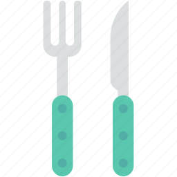 cutlery, eating utensil, fork, knife, utensils icon