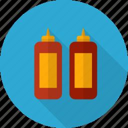 bottle, ingredient, ketchup, kitchen, sauce, tomato icon