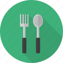 dining, fork, kitchen, knife, lunch, spoon