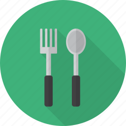dining, fork, kitchen, knife, lunch, spoon icon