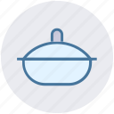 cap, casserole, cooking, kitchen, pan icon