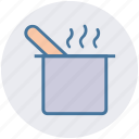 cooking, kitchen, pan, restaurant, soup, spoon, utensil icon