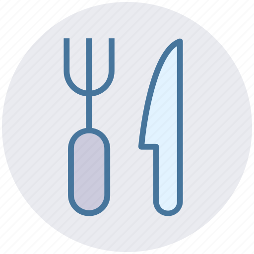 Dinner, eating, fork, fork and knife, kitchen tool, knife icon - Download on Iconfinder