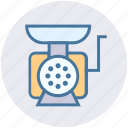 grinder, kitchen, manual, meat, mincing machine icon
