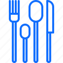 cook, cooking, food, fork, kitchen, knife, spoon icon