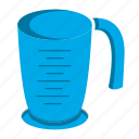 coffee, cooking, drink, flat, glass, kitchen, measuring cup icon