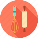 chef, cook, cooking, egg-beater, kitchen, knife, meal icon