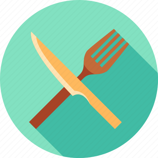 cook, cooking, dinner, eating, fork, kitchen, knife icon