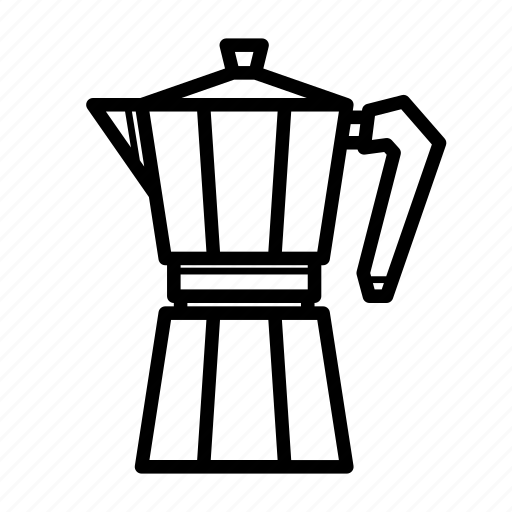 breakfast, brewer machine, coffee, coffee maker, espresso maker, kitchen, mokapot icon