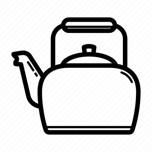 cauldron, kettle, kitchenware, metal pan, pot, tea, teapot icon