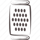 cheese, grater, kitchen, utensil icon