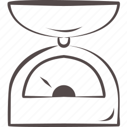 balance, kitchenware, libra, scale, weight icon