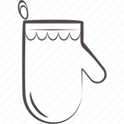 glove, holder, pot, protection icon