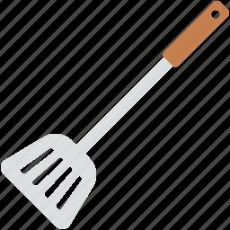cooking spoon, kitchen turner, kitchen utensils, slotted turner, spatula icon