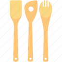 cooking spoons, cutlery, kitchen, spatula, utensils icon