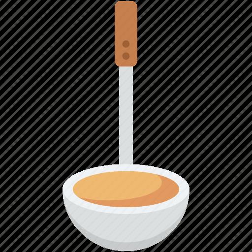 dipper, ladle, scoop, serving spoon, soup ladle icon