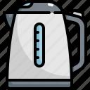 cooking, equipment, kettle, kitchen, kitchenware, pot, teapot