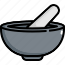cooking, equipment, food, kitchen, kitchenware, mortar