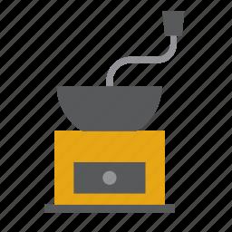 coffee, grinder, kitchen, kitchenware icon