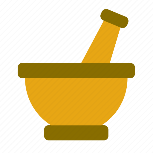 cook, cooking, kitchen, kitchenware, mortar, pestle, utensil icon