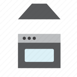 appliance, cooking, home appliances, hood, interior, kitchen, oven icon