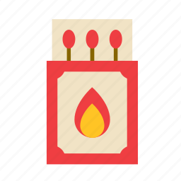 cook, cooking, fire, flame, kitchen, matches icon