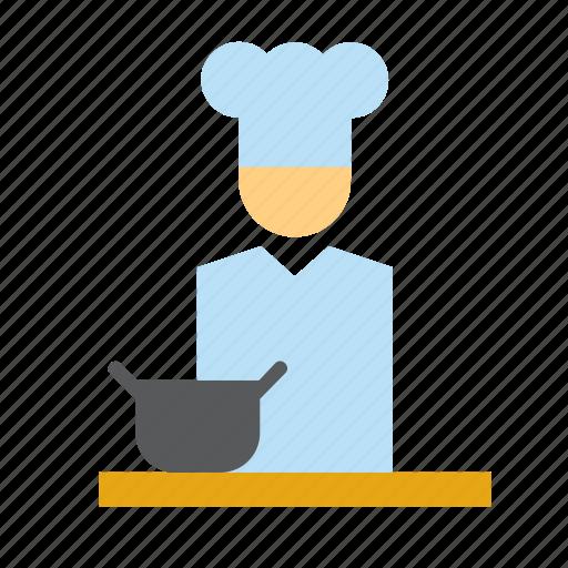 chef, cook, hat, kitchen, man, people, restaurant icon