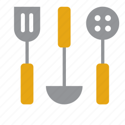 cooking, draining spoon, kitchen, ladle, skimmer, slice, utensil icon