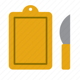 cook, cooking, cutting board, kitchen, kitchenware, knife, utensil icon