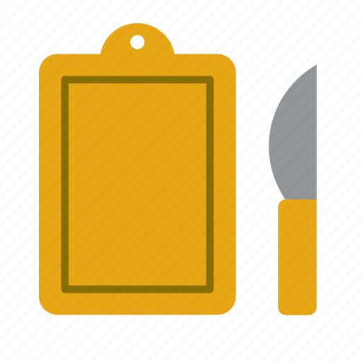 Cook, cooking, kitchen, cutting board, kitchenware, knife, utensil icon - Download on Iconfinder