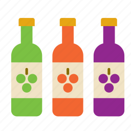 beverage, bottle, drink, red, rose, white, wine icon