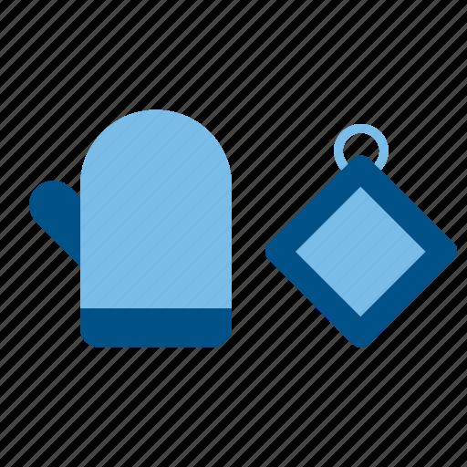 Cook, cooking, dishcloths, kitchen, kitchenware, mitt, oven glove icon - Download on Iconfinder