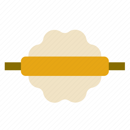 bread, cooking, dough, kitchen, kneading, restaurant, rolling pin icon