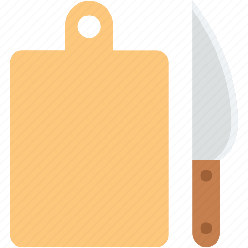 chopping block, chopping board, cutting board, kitchen utensil, knife icon