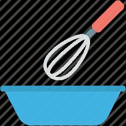 bowl, cake mixer, hand mixer, utensil, whisk icon