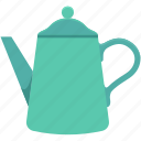 dishware, kitchen, tea kettle, tea pot, tea set icon