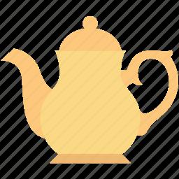 dishware, kitchen, tea kettle, tea pot, tea set icon