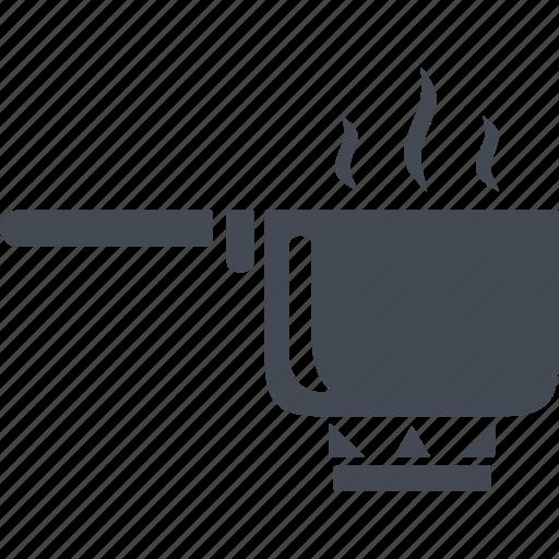 brewing coffee, fire, kitchen, kitchenware, turk icon