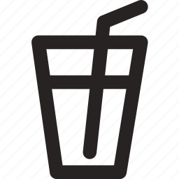 cup, itens, kitchen, straw, water icon