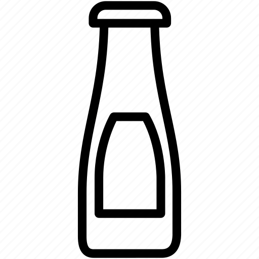 bottle, ketchup, red, sauce icon
