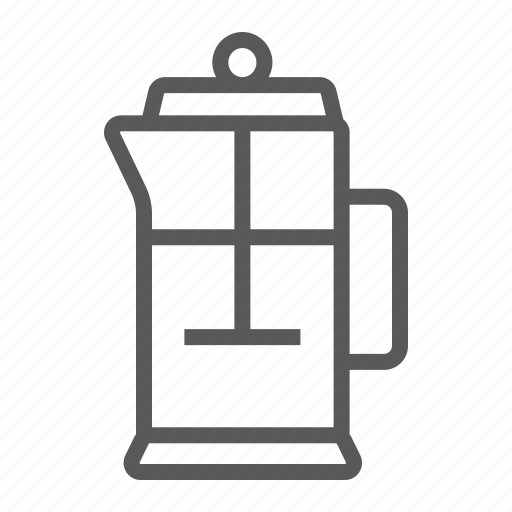 cafe, coffee, filter, french, pot, press, tea icon