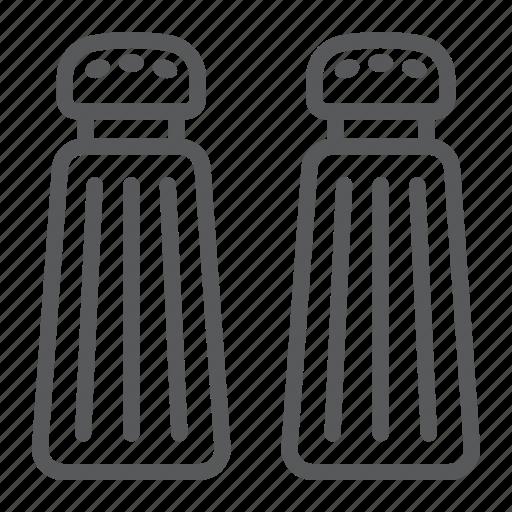 Cook, cooking, kitchen, pepper, salt, shaker, spice icon - Download on Iconfinder