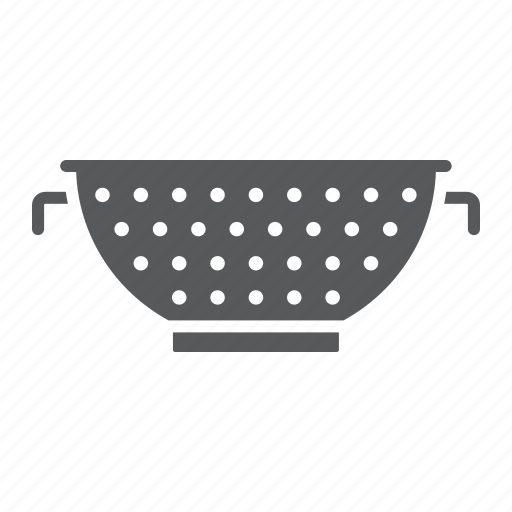 colander, cook, cooking, food, kitchen, strainer, tool icon