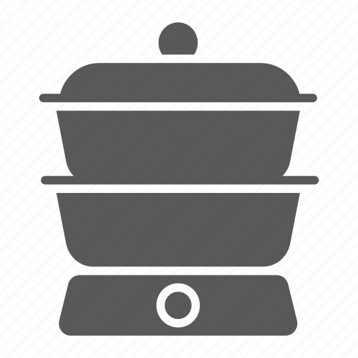 boiler, cook, cooking, diet, double, household, kitchen icon