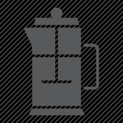 cafe, coffee, filter, french, pot, press, tea icon