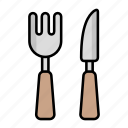 cutlery, dinner, eat, fork, knife, restaurant, utensils icon